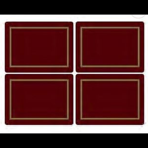 Pimpernel Classic Placemat in Burgundy (Set of 4)